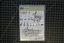 Retired Stampin' Up! BERRY MERRY, New, photopolymer New
