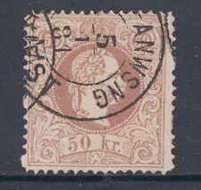 Austria Sc 33a used 1867 50kr Franz Josef perf 12