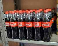 9 Pack Mexican Coca-Cola Cane Sugar Bottles 600ml Coke Hecho Mexico