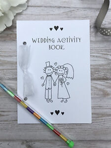 CHILDRENS A6 WEDDING ACTIVITY PACK BOOK BAG PARTY IDEAL GIFT FAVOUR