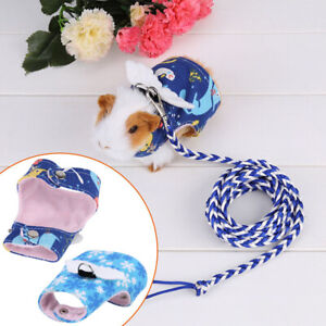 Small Animal Harness Guinea Pig Hamster Lead Vest Clothes Squirrel Forret Rabbit
