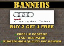 AUDI Motorsport auto BANNER per garage/negozio Display Vorsprung Durch Technik