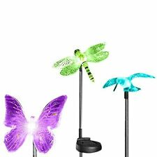 1 Piece Solar Powered Butterfly Garden Yard Stake Color Changing Light LED Gift