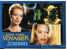 Star Trek Voyager Heroes And Villains Parallel Base Card #7 Seven of Nine