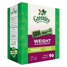 GREENIES Weight Management Dental Dog Treats Teenie 27 oz.