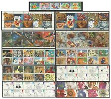 More details for greetings booklet stamps 1989 - 1997. unmounted mint strips.
