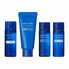 Shiseido Aqualabel Set White up  Cleansing Oil Foam Lotion Emulsion Japan