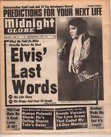 Elvis Presley Newspaper Elvis Last Words The MIDNIGHT GLOBE Good Condition 1977