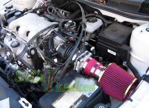 Red Air Intake Kit For 1999-05 Pontiac Grand AM 3.4L V6 GT  GT1 SE1 SE2