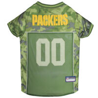 Green Bay Packers NFL Pets First Licensed Dog Pet Mesh Jersey Camo, XS-XL NWT