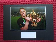 ALL BLACKS NEW ZEALAND DAN CARTER HAND SIGNED A3 MOUNTED PHOTO DISPLAY-AFTAL COA