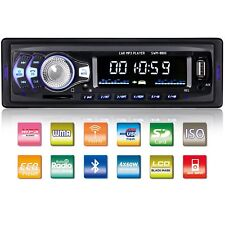 FM Car Stereo Radio Bluetooth 1 DIN In Dash Handsfree SD/USB AUX Head Unit