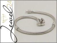 Armband echt Silber 925 Sterling rhodiniert 18 cm lang Schlangenarmband für Bead