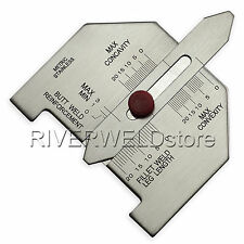 Automatic Weld Size Gage Welding Gauge Stainless Steel & Free Shipping & Metric