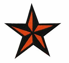 New NAUTICAL ORANGE STAR embroidered PATCH