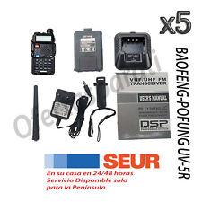 5x Baofeng-Pofung UV-5R Emisora dual Banda-Walkie