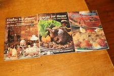 1982 Mail on Sunday Guests for Dinner Cooking Booklets Vintage Cooking