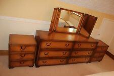 1960s vintage bedroom furniture - wardrobes, dressing table and 2 bedside chests