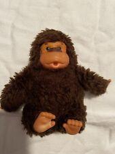 """Vintage Russ Baby Gonga Thumb Sucking Monkey Gorilla Plush Rare 5"""" Brown"""