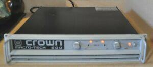 Crown Macro-Tech Professional Power Amplifier *Model 600