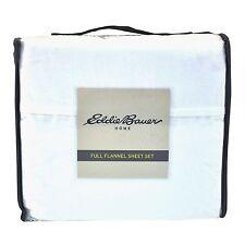 Eddie Bauer Home 100% Cotton Flannel Sheet Set Full Ivory