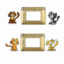 cats light switch sticker Adesivi Murali decoro interruttori cuccioli gatto 4pz.