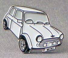WHITE MINI LAPEL PIN BADGE CAR CARS MORORING (OB-07)