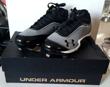 NEW IN BOX~Under Armour Baseball HEATER lV~METAL CLEATS Size 11.5 Black