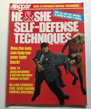 Very Rare Argosy Magazine 1975 He & She Self-defense Techniques Karaté Judo