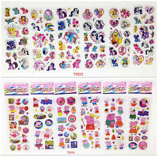 3D/12sheets/lot Cartoon Stereoscopic puffy Stickers peppa pig kids gift