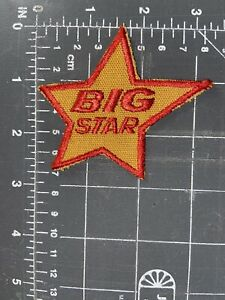 Vintage Big Star Markets Logo Patch Supermarkets Grocery Food Stores Chain Gold