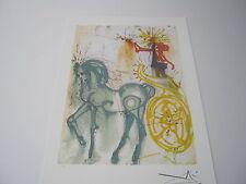 """Salvador Dali  Lithograph """"Le Cheval De Triomphe """" Plate-Signed"""