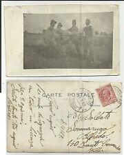 ANTICA FOTO CARTOLINA SPEDITA NEL 1919 CI SONO PIEGHE