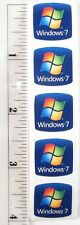 Five Pieces of Windows 7 Computer Case Stickers Logo Badge