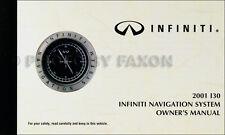 2001 Infiniti I30 Navigation System Owners Manual Original Nav Owner Guide