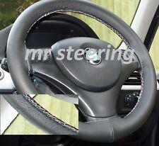 Para Bmw Serie 5 E60 E61 Auténtico Cuero cubierta del volante M-tech Costura Nuevo