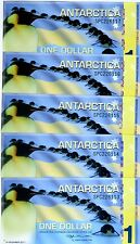 LOT Antarctica, 5 x $1, 2011, Polymer -> Commemorative