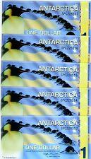 LOT Antarctica, 5 x $1, 2011, Polymer -  Commemorative