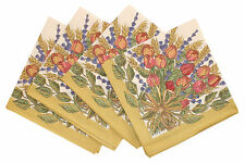 Tissus Toselli Provence 100% Cotton Set of 4 Napkins - Rose Lavender