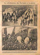 Soldiers Soldats du Portugal Paquebot Ocean Liner West Africa Afrique WWI 1916