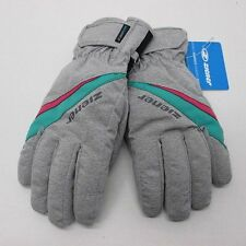 AquaShied Ziener Ladies Ski Gloves TOSIMA AS 7.0 M Gray Green WaterProof Womans