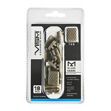 NCSTAR VAML1CT ANTI-SLIP M-LOK HANDGUARD SLOT COVERS RAIL COVERS 18PCS TAN/FDE