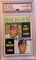 1964 TOPPS Phil Niekro AUTO ROOKIE RC #541 PSA DNA Hall Of Fame BGS ? AUTOGRAPH