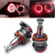 H8 Red Angel Eyes 20W LED Marker With Cree LED Chips for BMW E60 E87 E91 E93 2x