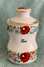 Kalocsa Hand Painted TEA  Spice Jar  Hand Painted   Mint Condition.