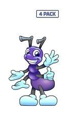 Ant Anthropomorphized Animals Bug Insect Purple Sticker Vinyl Decal 1-254