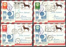 Poland 1963 - set of 4 Balloons Post Cards