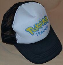 Black Pokemon Trainer Go Hat Ball Cap Outfit Costume Master Gym Leader Visor