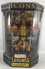 Wolverine Action Figure Marvel Legends Icons 12 In Toy Biz Unmasked Version NIP