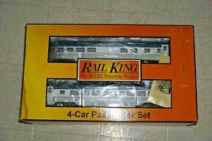 MTH RAIL KING 30-67592 NICKEL PLATE ROAD 4-CAR 60' STREAMLINED PASSENGER SET